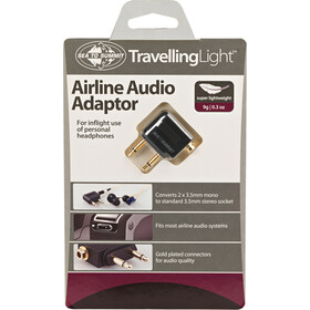 Sea to Summit Travelling Light Airline Audio Adapter black